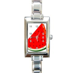 Fruit Harvest Slice Summer Rectangle Italian Charm Watch