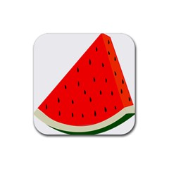 Fruit Harvest Slice Summer Rubber Square Coaster (4 Pack)