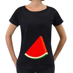 Fruit Harvest Slice Summer Women s Loose Fit T Shirt (black)