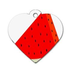 Fruit Harvest Slice Summer Dog Tag Heart (one Side)