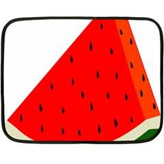 Fruit Harvest Slice Summer Double Sided Fleece Blanket (mini)