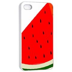 Fruit Harvest Slice Summer Apple Iphone 4/4s Seamless Case (white)