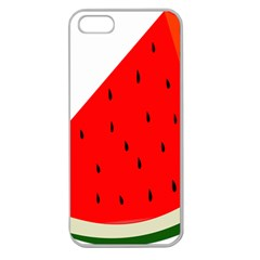 Fruit Harvest Slice Summer Apple Seamless Iphone 5 Case (clear)