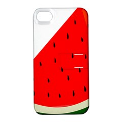 Fruit Harvest Slice Summer Apple Iphone 4/4s Hardshell Case With Stand