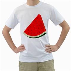 Fruit Harvest Slice Summer Men s T Shirt (white)