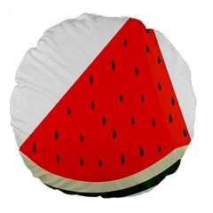 Fruit Harvest Slice Summer Large 18  Premium Flano Round Cushions