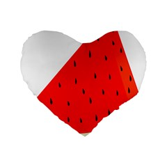 Fruit Harvest Slice Summer Standard 16  Premium Flano Heart Shape Cushions