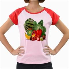 Fruits Vegetables Artichoke Banana Women s Cap Sleeve T Shirt
