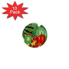 Fruits Vegetables Artichoke Banana 1  Mini Magnet (10 Pack)