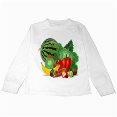 Fruits Vegetables Artichoke Banana Kids Long Sleeve T Shirts