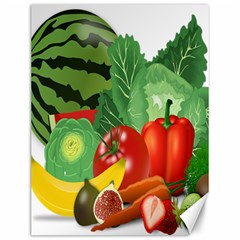 Fruits Vegetables Artichoke Banana Canvas 12  X 16