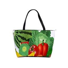 Fruits Vegetables Artichoke Banana Shoulder Handbags