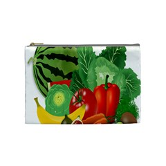 Fruits Vegetables Artichoke Banana Cosmetic Bag (medium)