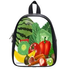 Fruits Vegetables Artichoke Banana School Bags (small)