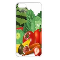 Fruits Vegetables Artichoke Banana Apple Iphone 5 Seamless Case (white)