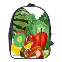 Fruits Vegetables Artichoke Banana School Bags (xl)