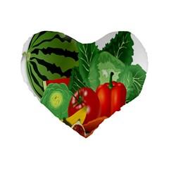 Fruits Vegetables Artichoke Banana Standard 16  Premium Heart Shape Cushions