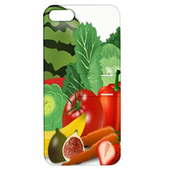 Fruits Vegetables Artichoke Banana Apple Iphone 5 Hardshell Case With Stand