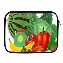 Fruits Vegetables Artichoke Banana Apple Ipad 2/3/4 Zipper Cases