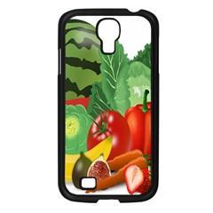 Fruits Vegetables Artichoke Banana Samsung Galaxy S4 I9500/ I9505 Case (black)