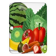 Fruits Vegetables Artichoke Banana Samsung Galaxy Tab 3 (10 1 ) P5200 Hardshell Case