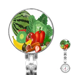 Fruits Vegetables Artichoke Banana Stainless Steel Nurses Watch