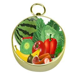 Fruits Vegetables Artichoke Banana Gold Compasses