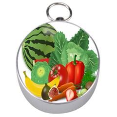 Fruits Vegetables Artichoke Banana Silver Compasses