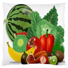 Fruits Vegetables Artichoke Banana Standard Flano Cushion Case (one Side)