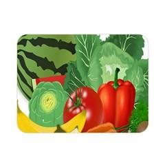 Fruits Vegetables Artichoke Banana Double Sided Flano Blanket (mini)