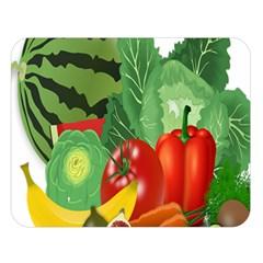 Fruits Vegetables Artichoke Banana Double Sided Flano Blanket (large)