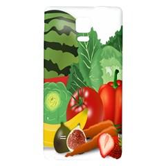 Fruits Vegetables Artichoke Banana Galaxy Note 4 Back Case
