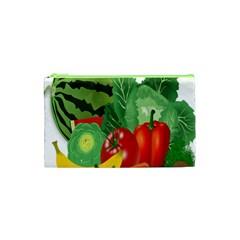 Fruits Vegetables Artichoke Banana Cosmetic Bag (xs)