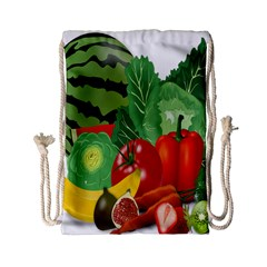 Fruits Vegetables Artichoke Banana Drawstring Bag (small)