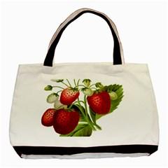 Food Fruit Leaf Leafy Leaves Basic Tote Bag (two Sides)