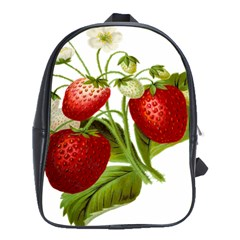 Food Fruit Leaf Leafy Leaves School Bags(large)