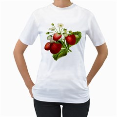 Food Fruit Leaf Leafy Leaves Women s T Shirt (white)