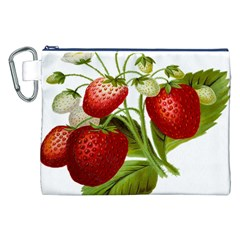 Food Fruit Leaf Leafy Leaves Canvas Cosmetic Bag (xxl)