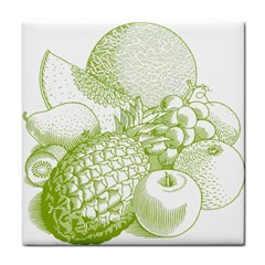 Fruits Vintage Food Healthy Retro Tile Coasters