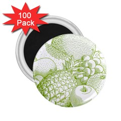 Fruits Vintage Food Healthy Retro 2 25  Magnets (100 Pack)