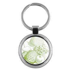 Fruits Vintage Food Healthy Retro Key Chains (round)