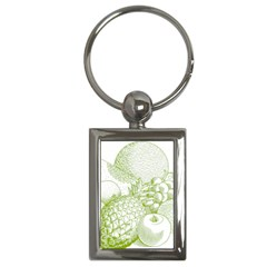 Fruits Vintage Food Healthy Retro Key Chains (rectangle)