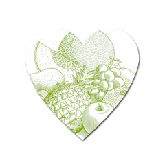Fruits Vintage Food Healthy Retro Heart Magnet