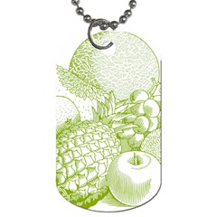 Fruits Vintage Food Healthy Retro Dog Tag (two Sides)