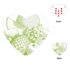 Fruits Vintage Food Healthy Retro Playing Cards (heart)