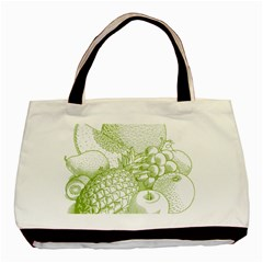 Fruits Vintage Food Healthy Retro Basic Tote Bag (two Sides)