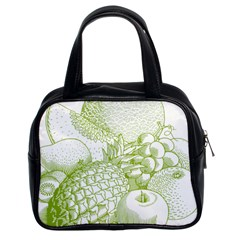 Fruits Vintage Food Healthy Retro Classic Handbags (2 Sides)