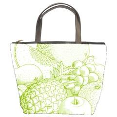 Fruits Vintage Food Healthy Retro Bucket Bags