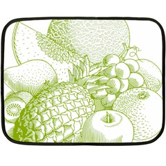 Fruits Vintage Food Healthy Retro Double Sided Fleece Blanket (mini)