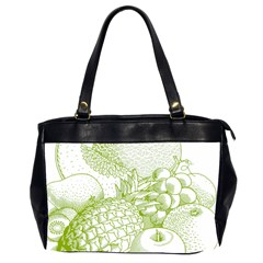 Fruits Vintage Food Healthy Retro Office Handbags (2 Sides)